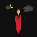 Free Hand Draw Dracula Halloween Cartoon Character Stock Image - 27382061