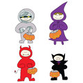 Free Halloween Cartoon Character Hand Drawn Stock Images - 27382094