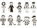 Free Cartoon Professions Icons Royalty Free Stock Image - 27382286