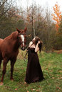 Free Formal Young Lady And Her Horse Stock Photography - 27384912