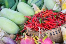 Free Asian Fruit And Vegetable Set Stock Photos - 27381233