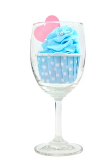 Free Blue Cup Cake Royalty Free Stock Photos - 27381238
