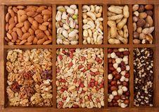 Arrangement Of Nuts Stock Images