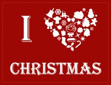 Free I Love Christmas Stock Images - 27382274