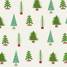 Free Set Of Christmas Trees Royalty Free Stock Photos - 27382278