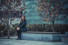 Free Girl On The Bench Stock Image - 27385411