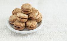 Walnut Cookies Royalty Free Stock Photos