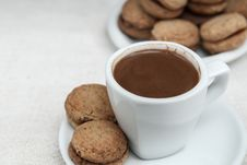Free Walnut Cookies And Coffee Royalty Free Stock Photo - 27387335