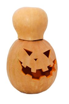 Halloween Pumpkin With Hat Royalty Free Stock Photo