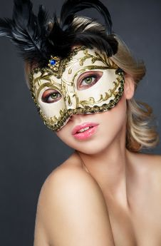 Free Girl In Mask Carnival Royalty Free Stock Photography - 27389497