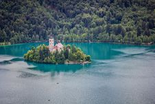 View Of Bled Island Royalty Free Stock Image