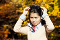 Free Pretty Asian Woman In Autumn Stock Image - 27390391