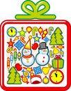 Free Christmas Set Royalty Free Stock Photos - 27390658
