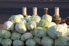 Cabbages And Pickles Stock Images