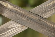 Free Crossed Wooden Planks Stock Photos - 27390633