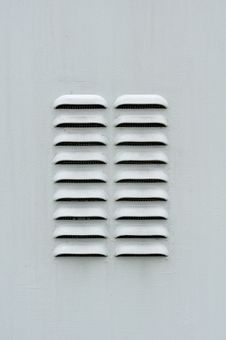 Free Gray Metal Ventilation Louver Stock Images - 27390754