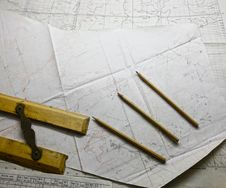 Military War Map Strategic Planning Stock Photography