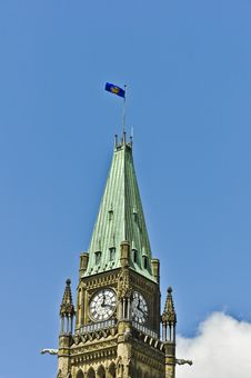 Governor General Flag On Peace Tower Ottawa Stock Images