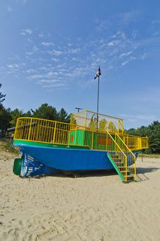 Childrens Playground Tugboat Pirate Ship Royalty Free Stock Images