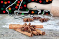 Anise And Cinnamon For Christmas. Stock Photos