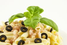 Free Pasta With Shrimps Stock Photo - 27399460