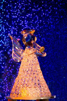 Free Orange Glass Angel Royalty Free Stock Image - 27399946