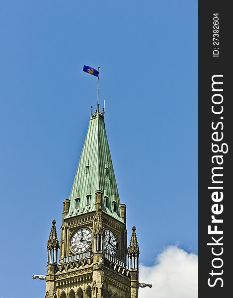 Governor General Flag on Peace Tower Ottawa