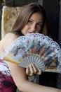 Free Woman And Fan Stock Photo - 2745300