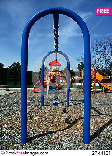 Free Blue Swing Under The Blue Sky Stock Image - 2744121