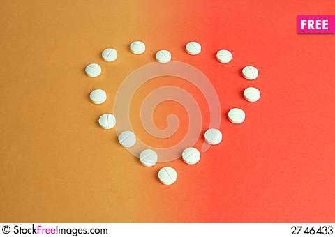 Free Heart Shaped Pills Stock Photos - 2746433