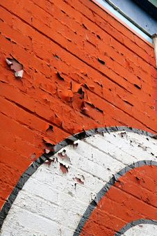 Free Peeling Red And White Paint Royalty Free Stock Photos - 2741278
