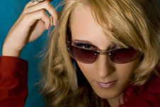 Free Blond Girl In Sun Glasses Royalty Free Stock Image - 2741486