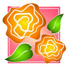 Free Rose Clip Art Yellow On Pink Royalty Free Stock Photos - 2741578