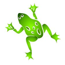 Free Isolated Green Frog Clip Art Stock Photo - 2741590
