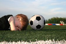 Free The Boy And A Ball Stock Photography - 2742162
