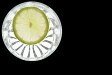 Free Slice Of Lime In Glass Royalty Free Stock Photography - 2743027