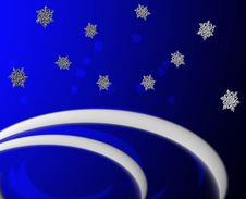 Free Blue Snow Greeting Royalty Free Stock Image - 2743436