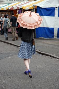 Free Girl With Parasol Royalty Free Stock Photos - 2743888