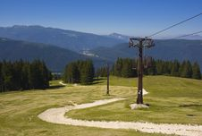 Free Old Cableway In Alps Stock Photography - 2743972