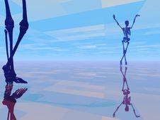Free Dancing Skeleton Royalty Free Stock Images - 2744159