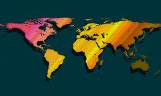 Free Colorful Worldmap Royalty Free Stock Image - 2744676