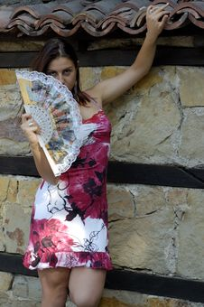 Free Woman And Fan Stock Photography - 2745222