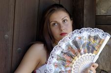 Free Woman And Fan Stock Photos - 2745313