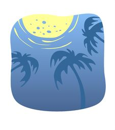 Free Tropic Night Royalty Free Stock Image - 2746016