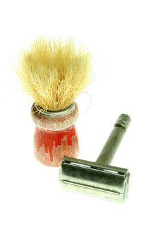 Shaving Brush And Razor Stock Image