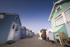 Free In Between Summer Beach Huts Royalty Free Stock Photo - 2749775