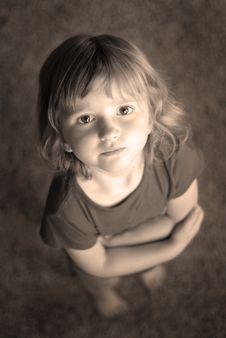 Free Little Girl Portrait Stock Image - 2749791