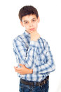 Free Handsome Boy In A Shirt Stands Stock Photo - 27401010