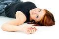 Free Beautiful Girl Lying Stock Image - 27401871