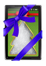 Free Digital Tablet As A Gift Stock Image - 27403561